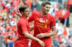 Joe Allen scores Liverpool first game