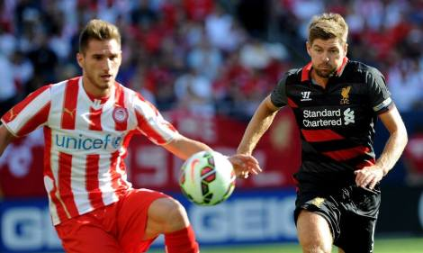 Gerrard controlled the tempo of Liverpool's play