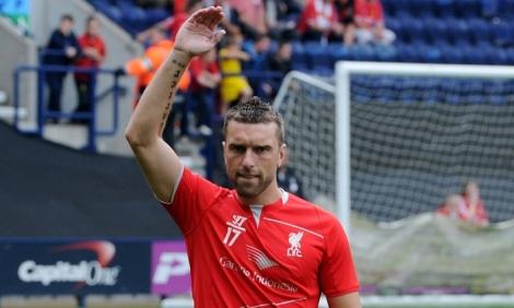 Rickie Lambert made his Liverpool debut