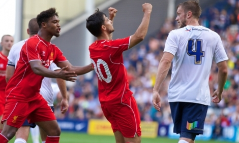 Suso scored a stunning first goal and impressed throughout the game