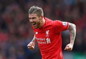 Moreno celebrates his goal vs Stoke