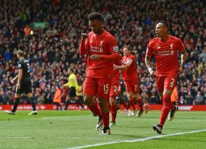 Sturridge celebrates his goal which capped of a good performance