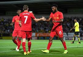Sturridge returned to his preferred position scoring twice against Burton